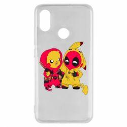 Чехол для Xiaomi Mi8 Pikachu and deadpool