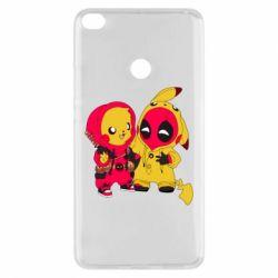 Чехол для Xiaomi Mi Max 2 Pikachu and deadpool