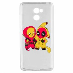 Чехол для Xiaomi Redmi 4 Pikachu and deadpool
