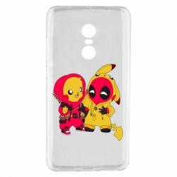 Чехол для Xiaomi Redmi Note 4 Pikachu and deadpool