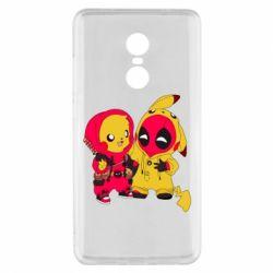 Чехол для Xiaomi Redmi Note 4x Pikachu and deadpool