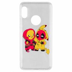 Чехол для Xiaomi Redmi Note 5 Pikachu and deadpool