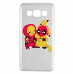 Чехол для Samsung A3 2015 Pikachu and deadpool
