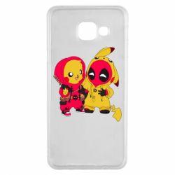 Чехол для Samsung A3 2016 Pikachu and deadpool