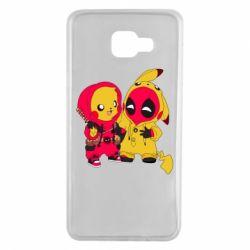 Чехол для Samsung A7 2016 Pikachu and deadpool