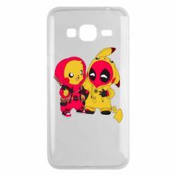 Чехол для Samsung J3 2016 Pikachu and deadpool