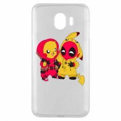Чехол для Samsung J4 Pikachu and deadpool
