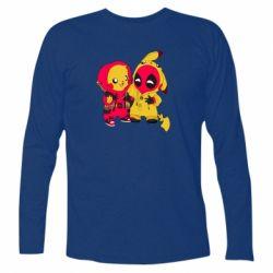 Футболка с длинным рукавом Pikachu and deadpool