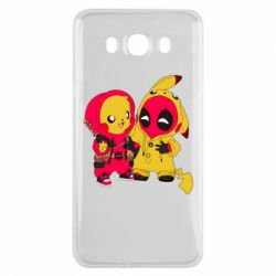 Чехол для Samsung J7 2016 Pikachu and deadpool