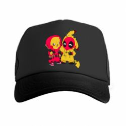 Кепка-тракер Pikachu and deadpool