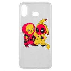 Чехол для Samsung A6s Pikachu and deadpool