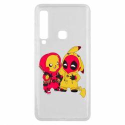 Чехол для Samsung A9 2018 Pikachu and deadpool