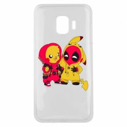 Чехол для Samsung J2 Core Pikachu and deadpool