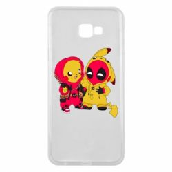 Чехол для Samsung J4 Plus 2018 Pikachu and deadpool