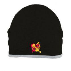 Шапка Pikachu and deadpool