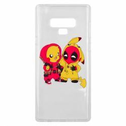 Чехол для Samsung Note 9 Pikachu and deadpool