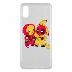 Чехол для Xiaomi Mi8 Pro Pikachu and deadpool
