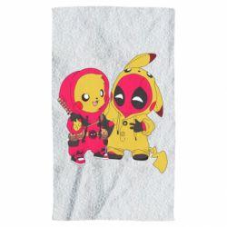 Полотенце Pikachu and deadpool