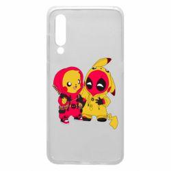 Чехол для Xiaomi Mi9 Pikachu and deadpool