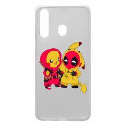 Чехол для Samsung A60 Pikachu and deadpool