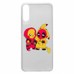 Чехол для Samsung A70 Pikachu and deadpool