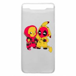 Чехол для Samsung A80 Pikachu and deadpool