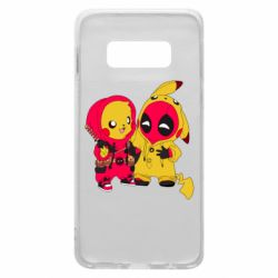Чехол для Samsung S10e Pikachu and deadpool