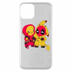 Чехол для iPhone 11 Pikachu and deadpool
