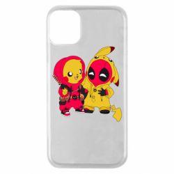 Чехол для iPhone 11 Pro Pikachu and deadpool