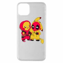 Чехол для iPhone 11 Pro Max Pikachu and deadpool