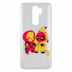 Чехол для Xiaomi Redmi Note 8 Pro Pikachu and deadpool