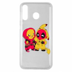 Чехол для Samsung M30 Pikachu and deadpool