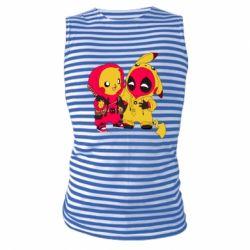 Майка-тельняшка Pikachu and deadpool