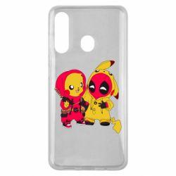 Чехол для Samsung M40 Pikachu and deadpool