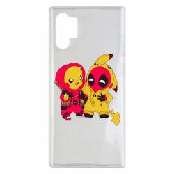 Чехол для Samsung Note 10 Plus Pikachu and deadpool