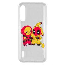 Чохол для Xiaomi Mi A3 Pikachu and deadpool