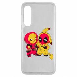 Чехол для Xiaomi Mi9 SE Pikachu and deadpool