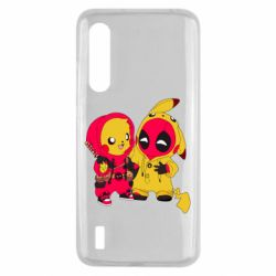 Чехол для Xiaomi Mi9 Lite Pikachu and deadpool