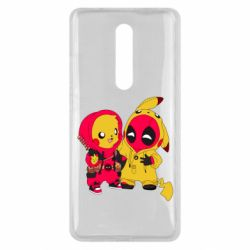 Чехол для Xiaomi Mi9T Pikachu and deadpool
