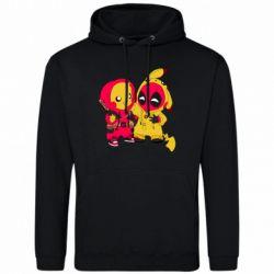 Мужская толстовка Pikachu and deadpool