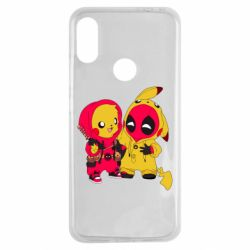 Чехол для Xiaomi Redmi Note 7 Pikachu and deadpool