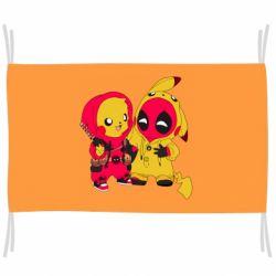 Флаг Pikachu and deadpool