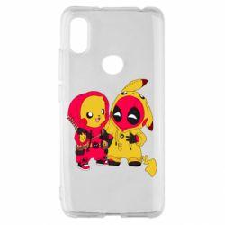 Чехол для Xiaomi Redmi S2 Pikachu and deadpool
