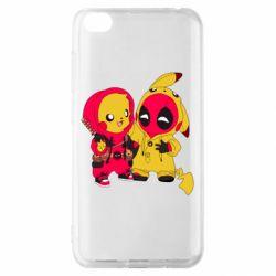 Чехол для Xiaomi Redmi Go Pikachu and deadpool
