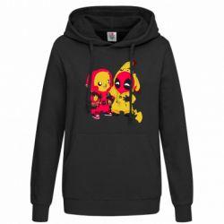 Женская толстовка Pikachu and deadpool