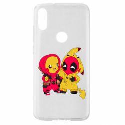 Чехол для Xiaomi Mi Play Pikachu and deadpool