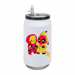 Термобанка 350ml Pikachu and deadpool