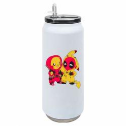 Термобанка 500ml Pikachu and deadpool
