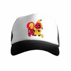 Детская кепка-тракер Pikachu and deadpool