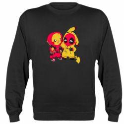 Реглан (свитшот) Pikachu and deadpool